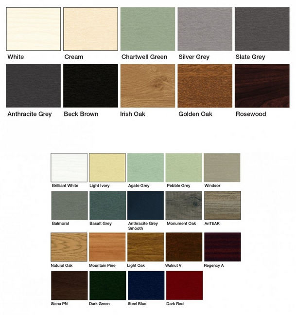 Choose The Perfect Color For Your uPVC Doors And windows, colors in uPVC